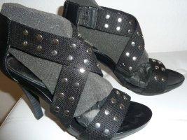 Cafènoir Sandały z rzemykami czarny Sztuczne włókno