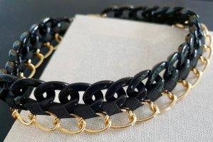 Zara Collier incrusté de pierres noir-doré