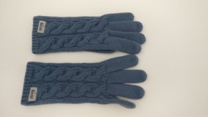 Roeckl Knitted Gloves slate-gray-cornflower blue