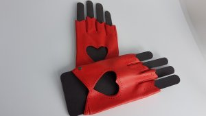 Roeckl Leather Gloves red leather