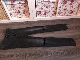 Röhrenjeans Hose Risse Knie grau high waist Jeans
