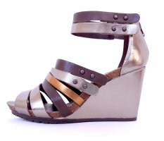 Clarks Wedge Sandals multicolored leather