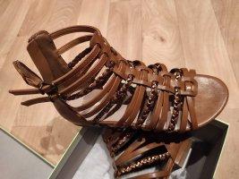 Deichmann Strapped High-Heeled Sandals brown