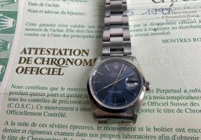 Rolex Orologio automatico argento-blu