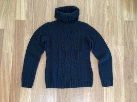 Turnover Turtleneck Sweater black wool