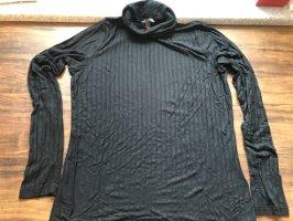 Banana Republic Camisa de cuello de tortuga negro