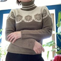 andere Marke Turtleneck Sweater white-olive green