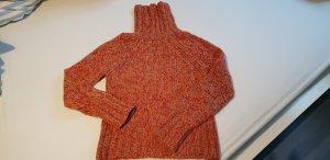 Rollkragenpullover in Rot-Melange von Cinque Gr. S