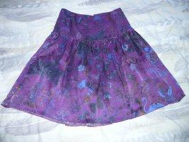 Alba Moda Zijden rok blauw-paars-azuur Zijde