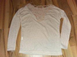 Romantik Langarm Top Shirt toller Rücken 36 + 34-36 xs-s