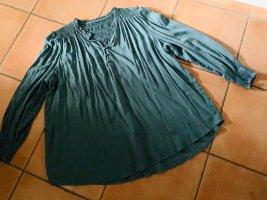 Romantische Bluse / Tunika von Yessica Petrolblau, Gr. 46/48