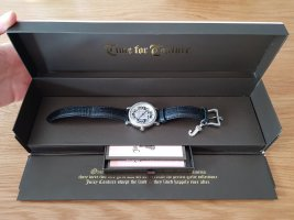 Juicy Couture Watch With Leather Strap black