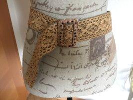 Promod Cinturón trenzado multicolor Cuero