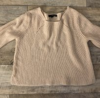 Rosa crop Strickpulli