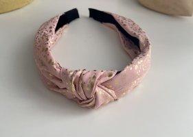 Opaska na włosy w kolorze różowego złota-złoto