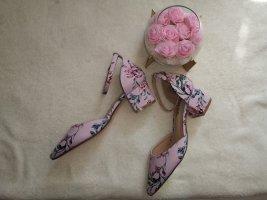 rosa riemchen/sandale mit absatz