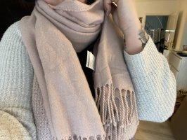 H&M Sciarpa di lana rosa chiaro
