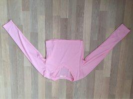 Romwe Camicia cropped rosa-fucsia neon Tessuto misto