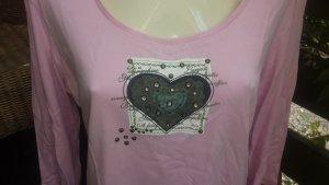 Lerros T-shirt jasny różowy-szary