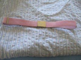 Cinturón de tela rosa