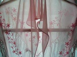 Esprit Châle au tricot rose clair coton
