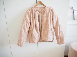 Mango Between-Seasons Jacket dusky pink cotton