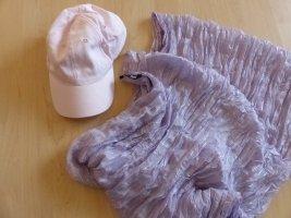 rosafarbene Cap und lila farbenes Tuch von H & M
