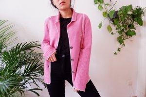 Fabiana Filippi Knitted Blazer pink-pink cashmere
