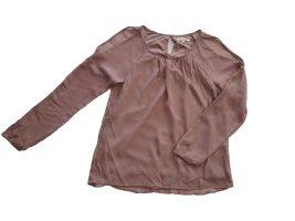 rosé Bluse mit Schulter Cut-Outs