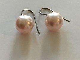 Pendientes de perlas rosa