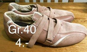 Basket velcro rosé-rose clair