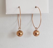 Hand made Ear Hoops rose-gold-coloured