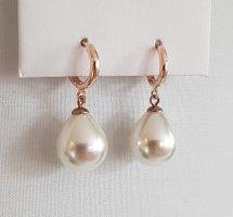 Hand made Boucles d'oreilles en perles or rose