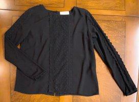 Rosemunde Copenhagen Luxus Bluse, schwarz, mit Spitze, wunderschön, Gr. 36 (auch 34, XS s)