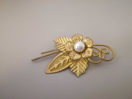 Vintage Spilla oro-crema