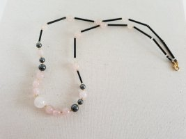 Boutique Ware Collana di perle rosa pallido-nero
