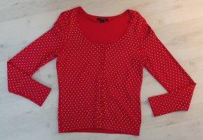 Comma Smanicato lavorato a maglia rosso-bianco