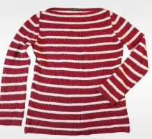 rot weiß gestreifter Pullover Streifen M L oversized Zara