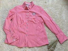 Rot weiß karierte Bluse von L'Argentina lange Knopfleiste - figurbetont