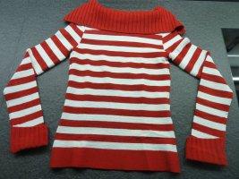 Rot-weißer Damen Pullover Pulli Gr. S/M v. Xanaka