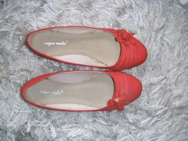 rote Ballerinas mit Blume, super mode, Gr. 39
