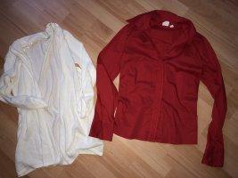 Rote Bluse Mango Gr. EU S* Weisse Strickjacke LC Waikiki Gr.S