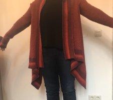 Rote Bordeaux Jacke Pullover Strickjacke von Mexx Gr L