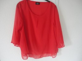 Rote Chiffonbluse in Gr. 48