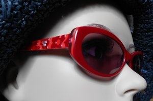 Anna Sui Glasses red-bright red synthetic material