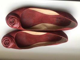 Rote Echtlederballerina von bagatt