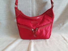 rote Fossilhandtasche