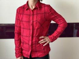 Rote gestreifte Bluse Hemd elegant , gr M
