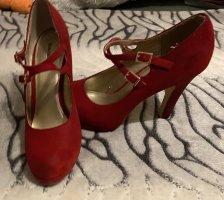 Graceland Czółenka z rzemykami głęboka czerwień