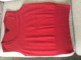 Escada Gilet tricoté rouge fluo cachemire
